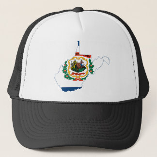 Flag Map Of West Virginia Trucker Hat