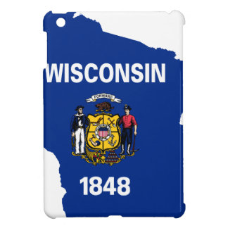 Flag Map Of Wisconsin Case For The iPad Mini