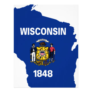 Flag Map Of Wisconsin Letterhead