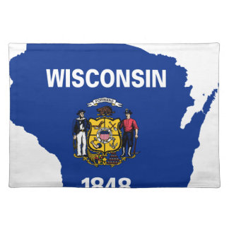 Flag Map Of Wisconsin Placemat