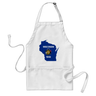 Flag Map Of Wisconsin Standard Apron