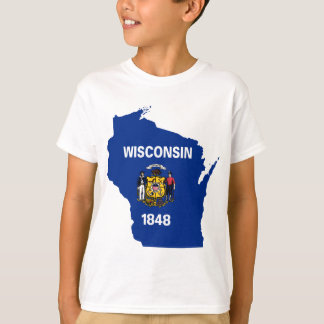 Flag Map Of Wisconsin T-Shirt