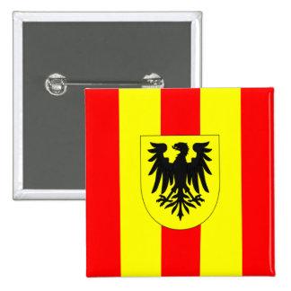 Flag Mechelen Malines Mechlin Belgium 2 Inch Square Button