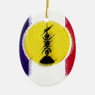 flag ncl FRA KNK Ceramic Ornament