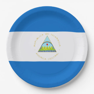 Flag: Nicaragua 9 Inch Paper Plate