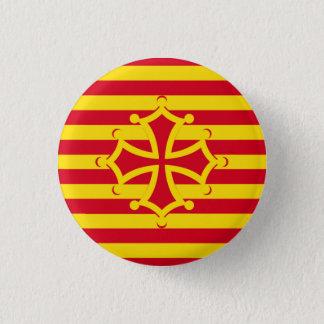 flag occitanie swipes in 1 inch round button