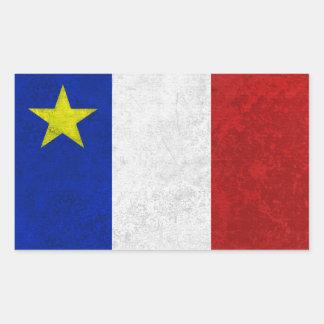 Flag of Acadia Distressed Grunge