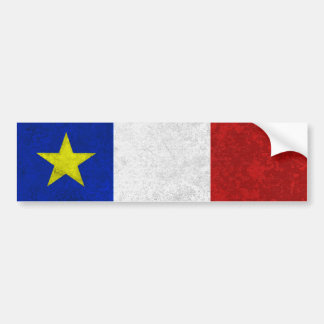 Flag of Acadia Distressed Grunge Bumper Stickers