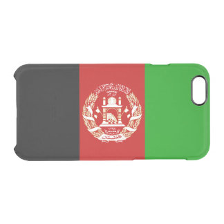 Flag of Afghanistan Clear iPhone Case