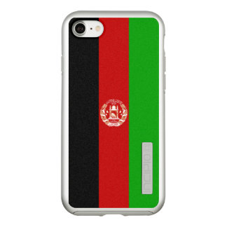 Flag of Afghanistan Silver iPhone Case