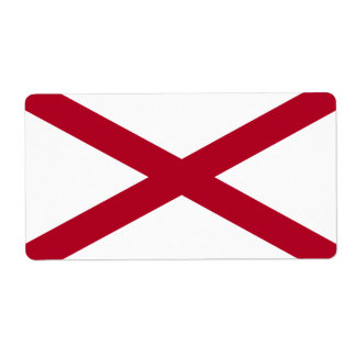 Flag of Alabama Avery Label