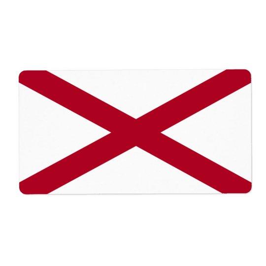 Flag of Alabama Avery Label