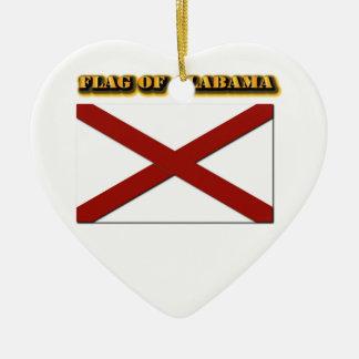 Flag of Alabama Ceramic Ornament