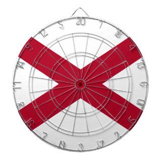 Flag Of Alabama Dartboard