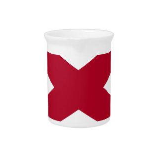 Flag Of Alabama Pitcher