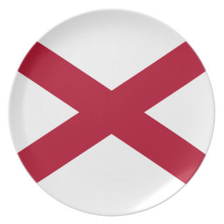 Flag Of Alabama Plate