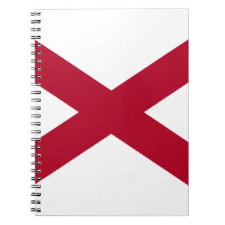 Flag Of Alabama Spiral Notebook