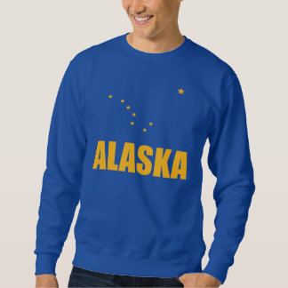 Flag Of Alaska Big Dipper Yellow Text Sweatshirt