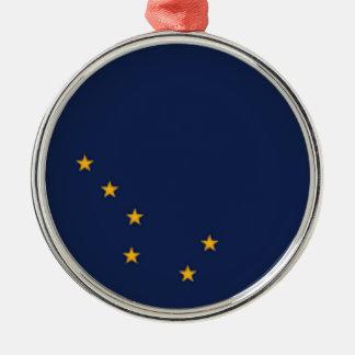 Flag Of Alaska Metal Ornament
