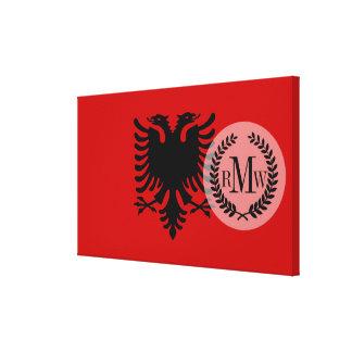 Flag of Albania Canvas Print