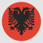 Flag of Albania Classic Round Sticker