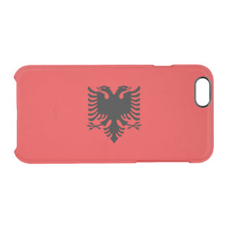Flag of Albania Clear iPhone Case