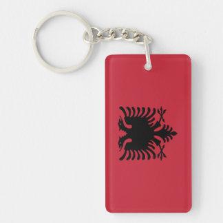 Flag of Albania Double-Sided Rectangular Acrylic Keychain