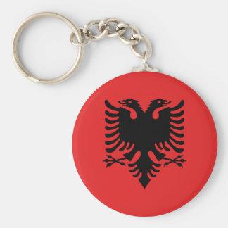 Flag of Albania - Flamuri i Shqipërisë Basic Round Button Keychain