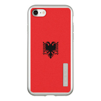 Flag of Albania Silver iPhone Case