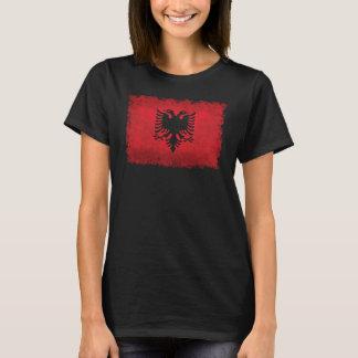 Flag of Albania Vintage Retro Style T-Shirt