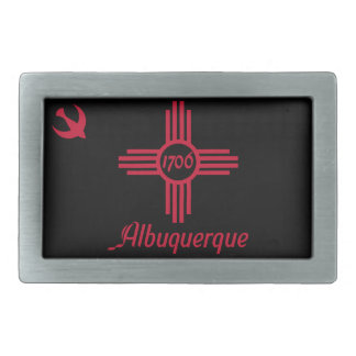 Flag of Albuquerque, New Mexico Rectangular Belt Buckle