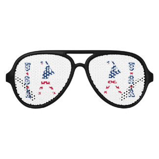 Flag of America Baseball American Aviator Sunglasses