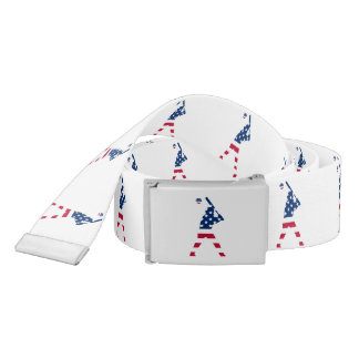 Flag of America Baseball American Belt