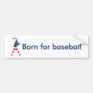 Flag of America Baseball American Bumper Sticker