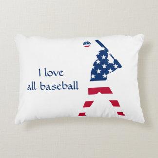 Flag of America Baseball American Decorative Pillow