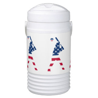 Flag of America Baseball American Drinks Cooler