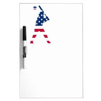 Flag of America Baseball American Dry Erase Board