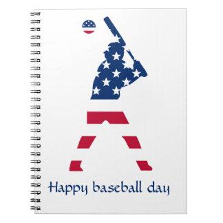 Flag of America Baseball American Notebooks