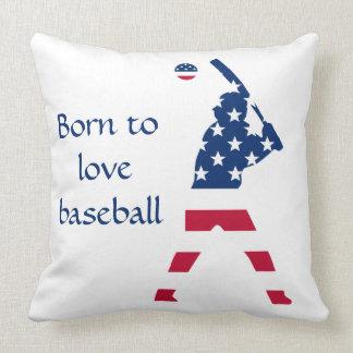 Flag of America Baseball American Throw Pillow