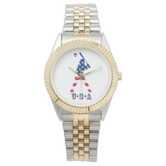 Flag of America Baseball American Watch