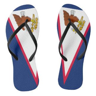 Flag of American Samoa Flip Flops