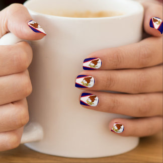 Flag of American Samoa Minx Nail Art