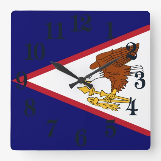 Flag of American Samoa Square Wall Clock