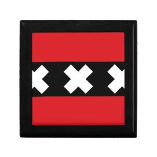 Flag of Amsterdam Keepsake Box