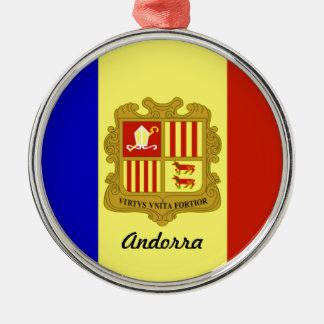 Flag of Andorra Metal Ornament