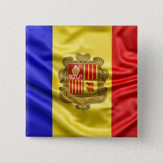 Flag Of Andorra Silk Flag Button