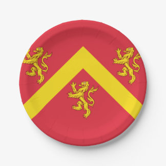 Flag of Anglesey Paper Plate