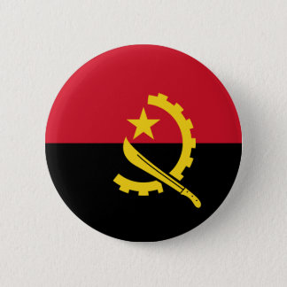 Flag of Angola - Bandeira de Angola 2 Inch Round Button