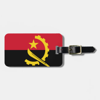 Flag of Angola - Bandeira de Angola Luggage Tag