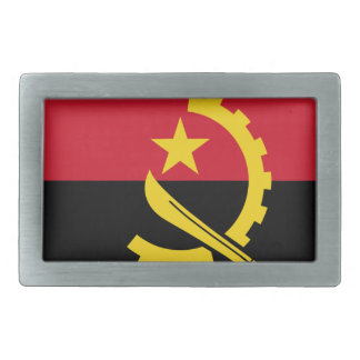 Flag of Angola - Bandeira de Angola Rectangular Belt Buckle